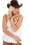 Cowgirl look down Royalty Free Stock Image