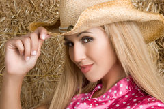 Cowgirl mexicano imagem de stock royalty free