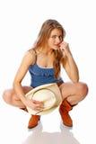 cowgirl miastowy Zdjęcia Royalty Free