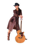 Cowgirl Musician Stock Photography