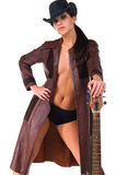 Cowgirl Musician Royalty Free Stock Images