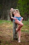 cowgirl natura Fotografia Royalty Free
