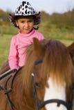 Cowgirl nell'addestramento Fotografia Stock