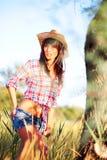 Cowgirl nell'amore con Wildness Fotografia Stock