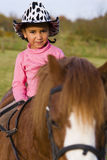Cowgirl no treinamento Fotografia de Stock