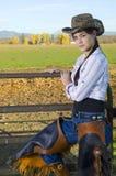 cowgirl ogrodzenie Fotografia Stock