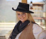 A Cowgirl of Old Tucson, Tucson, Arizona Stock Photos