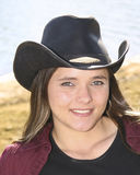 Cowgirl outside Stock Photo