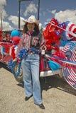 Cowgirl på fjärdedelen av Juli, i Lima Montana royaltyfria foton