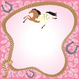 Cowgirl Party Invitation Royalty Free Stock Images
