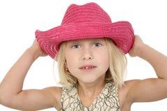 Cowgirl pequeno bonito Fotografia de Stock Royalty Free