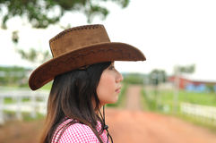 Cowgirl portrait Stock Image