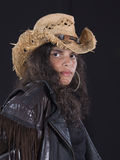 Cowgirl-Portrait stockbilder