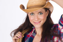 CowGirl Portrait 3 stock images