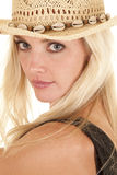 Cowgirl portrait over shoulder Stock Photography