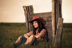 cowgirl portret Obrazy Royalty Free