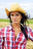 Cowgirl portreta vertical Obraz Royalty Free