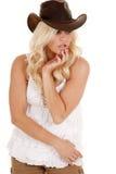 cowgirl puszka spojrzenie obraz royalty free