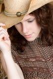 cowgirl redhead Στοκ Εικόνες
