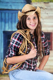Cowgirl with a Rope Royalty Free Stock Photos