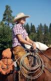 Cowgirl rubio Imagen de archivo