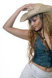Cowgirl 'sexy' Foto de Stock Royalty Free