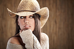 Cowgirl sexy Immagine Stock