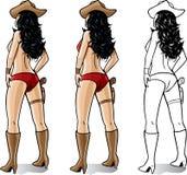 Cowgirl 'sexy' Imagens de Stock