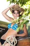 Cowgirl sexy Fotografia Stock Libera da Diritti