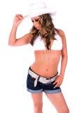 Cowgirl 'sexy'. Imagem de Stock