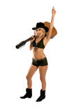 Cowgirl 'sexy' Imagem de Stock Royalty Free