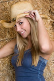 Cowgirl Smiling Stock Photography