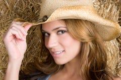 Cowgirl sonriente foto de archivo libre de regalías
