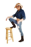 Cowgirl standing. Stock Photography