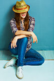 Cowgirl style. Fashion old style photo Royalty Free Stock Image