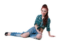 Cowgirl style Stock Photos