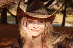 Cowgirl Sunlit Imagen de archivo libre de regalías