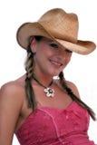 Cowgirl sveglio Fotografia Stock