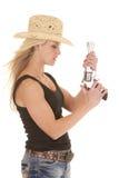 Cowgirl-Trägershirtgewehr oben Stockbild