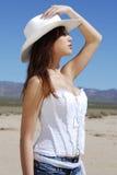 Cowgirl trigueno Foto de archivo libre de regalías
