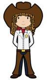 Cowgirl - Vektor Stockfotografie