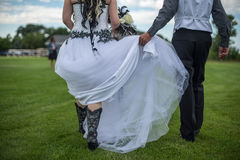 Cowgirl Wedding Stock Photography