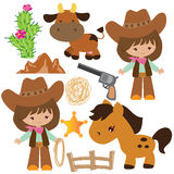 Cowgirl wektoru ilustracja royalty ilustracja