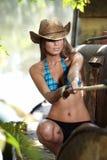 Cowgirl westlich stockfoto