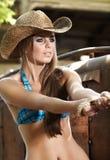 Cowgirl westlich lizenzfreies stockfoto