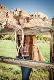 Cowgirlande Royaltyfri Fotografi
