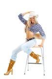 Cowgirlart Stockfotos