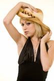 Cowgirlart und weise Stockfotografie