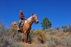 cowgirlbarn royaltyfri bild