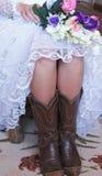Cowgirlbrud Royaltyfria Foton